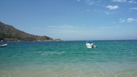 私達が遊びに行ったビーチの一つ、まさにparadiseと言いたくなるようなビーチでした。ビーチには後から人が来たけど3時間ほど私達とキンヒョの子供だけ