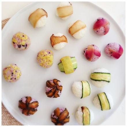 こちらはベジタリアンや子供の事を考えてローストしたお野菜など。自家製のみょうがの甘酢づけもかなり好評。